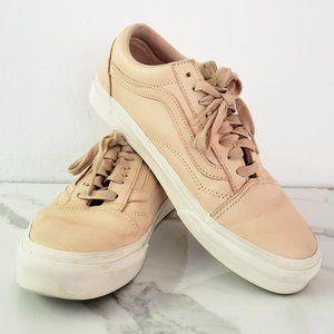 Vans Old Skool Low Pink/Beige Leather Sneakers